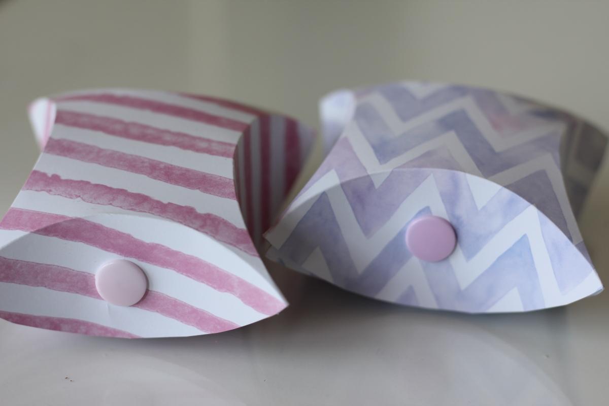 Geschenkschachtel aus Tonpapier