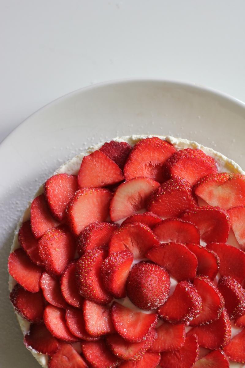 Erdbeere-Quark Kuchen